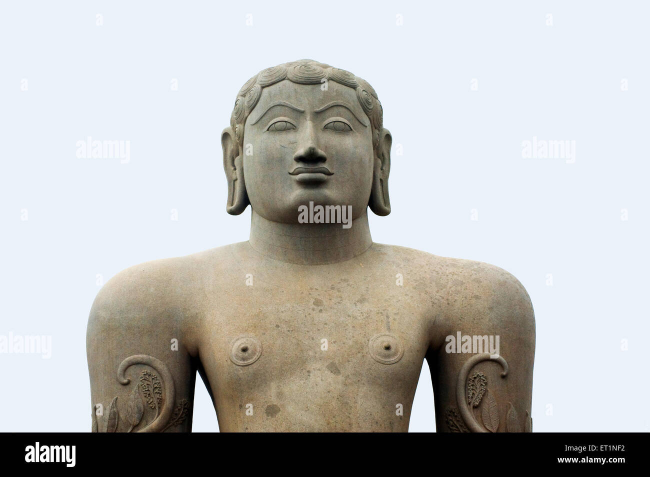 Statue of jain deity gomateshvara ; Sravanabelagola ; Hassan ; Karnataka ; India - Stock Image