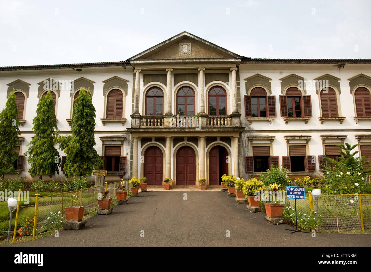 Church and pastoral institute at saint cajetan ; Old Goa ; India - Stock Image