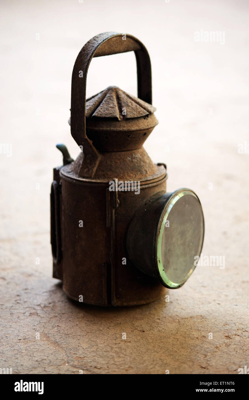 Lantern used for signalling in old days ; India - Stock Image