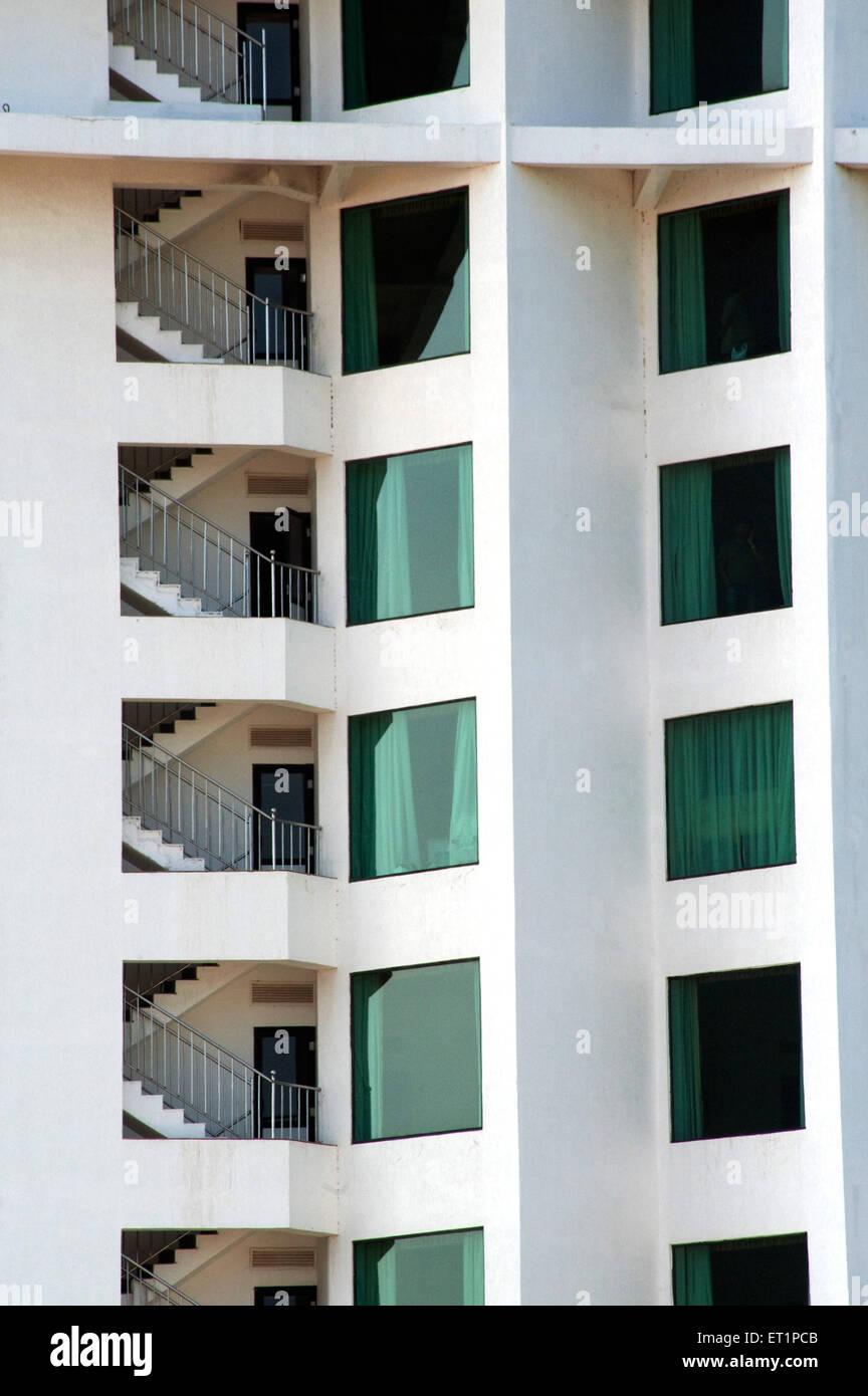 Graphic design of hotel in Kerala ; India - Stock Image