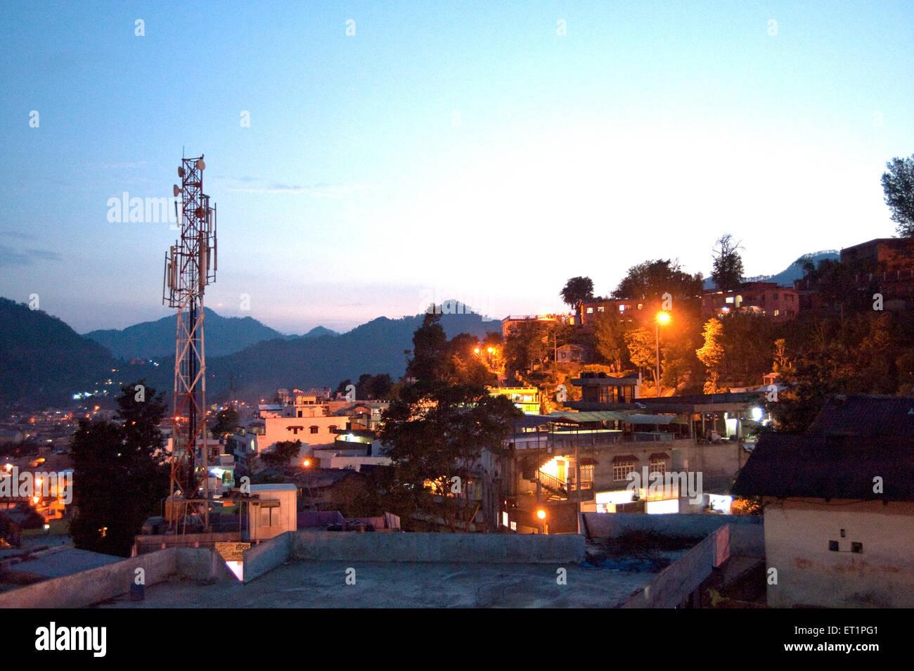 City pithoragar at evening time uttarakhand India Asia - Stock Image