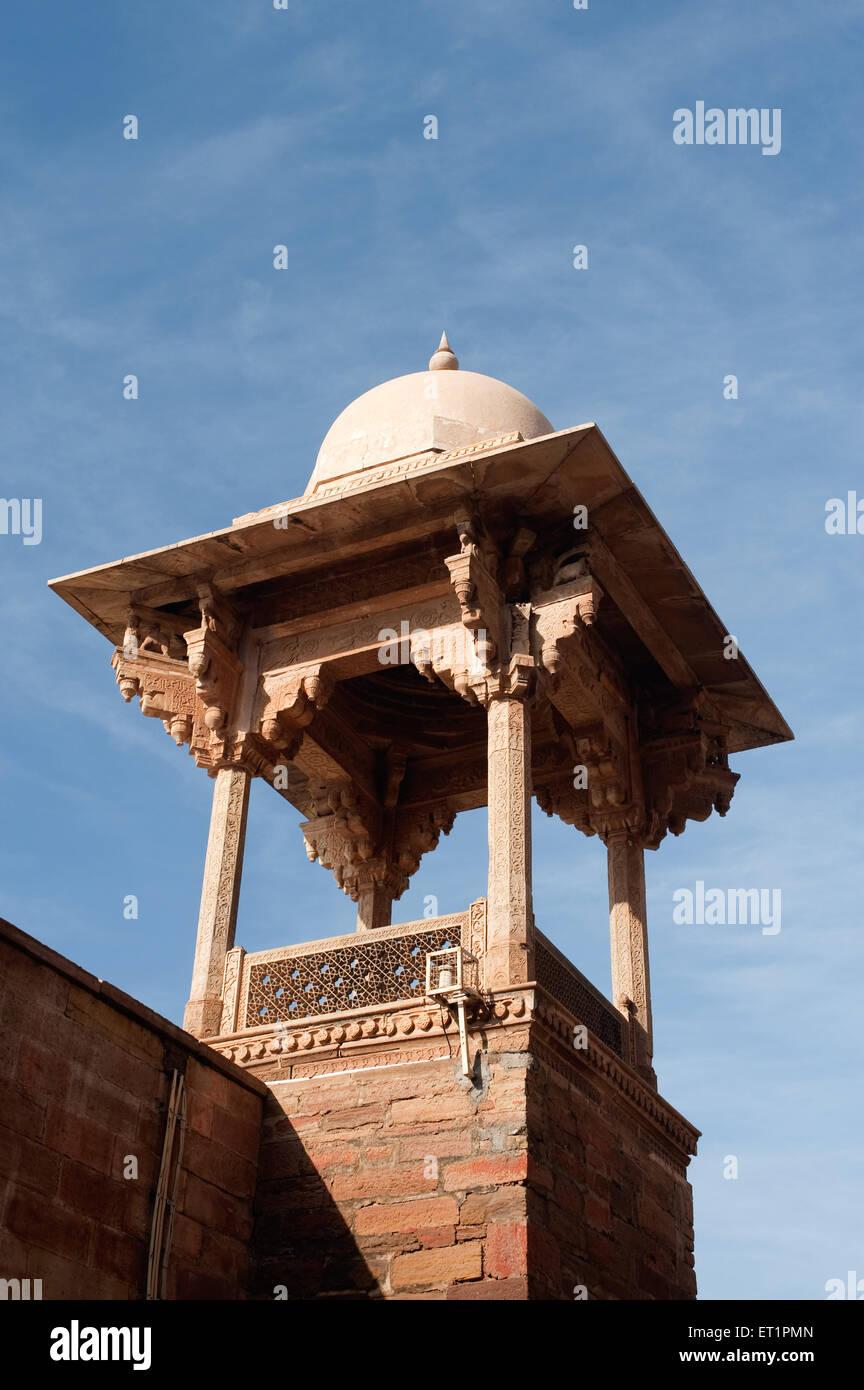 Watch tower cupolas at Gwalior fort ; Madhya Pradesh ; India - Stock Image