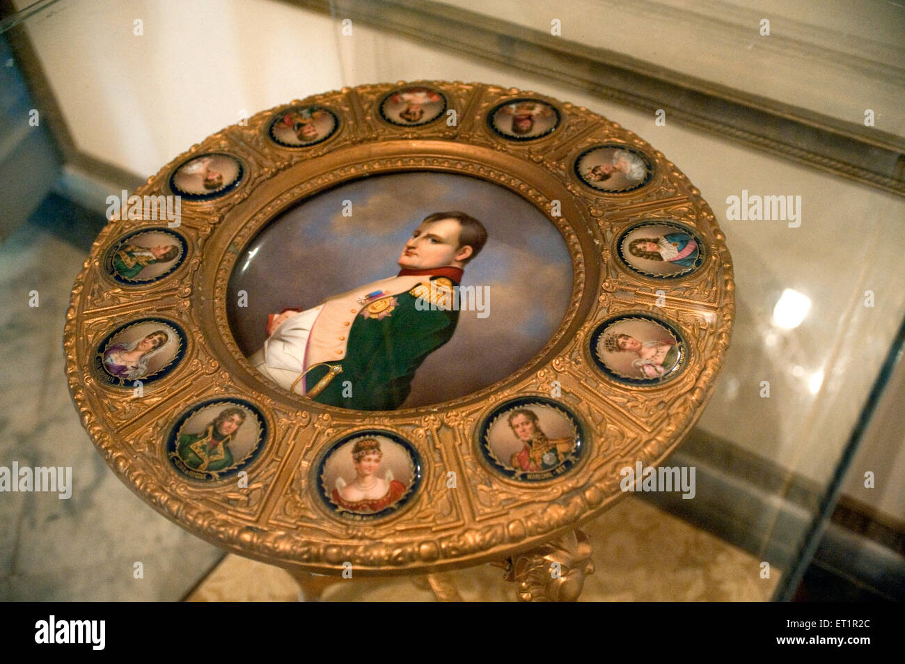 Napoleons painting on disk in scindia museum in jaivilas palace ; Gwalior ; Madhya Pradesh ; India - Stock Image