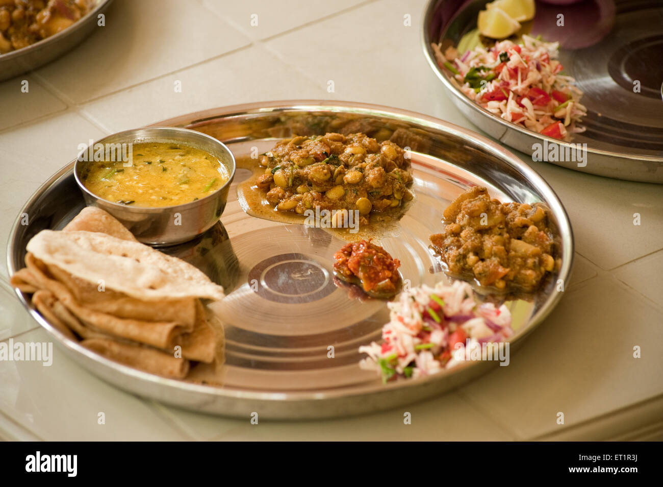 Konkani vegetarian thali Stock Photo: 83633302 - Alamy