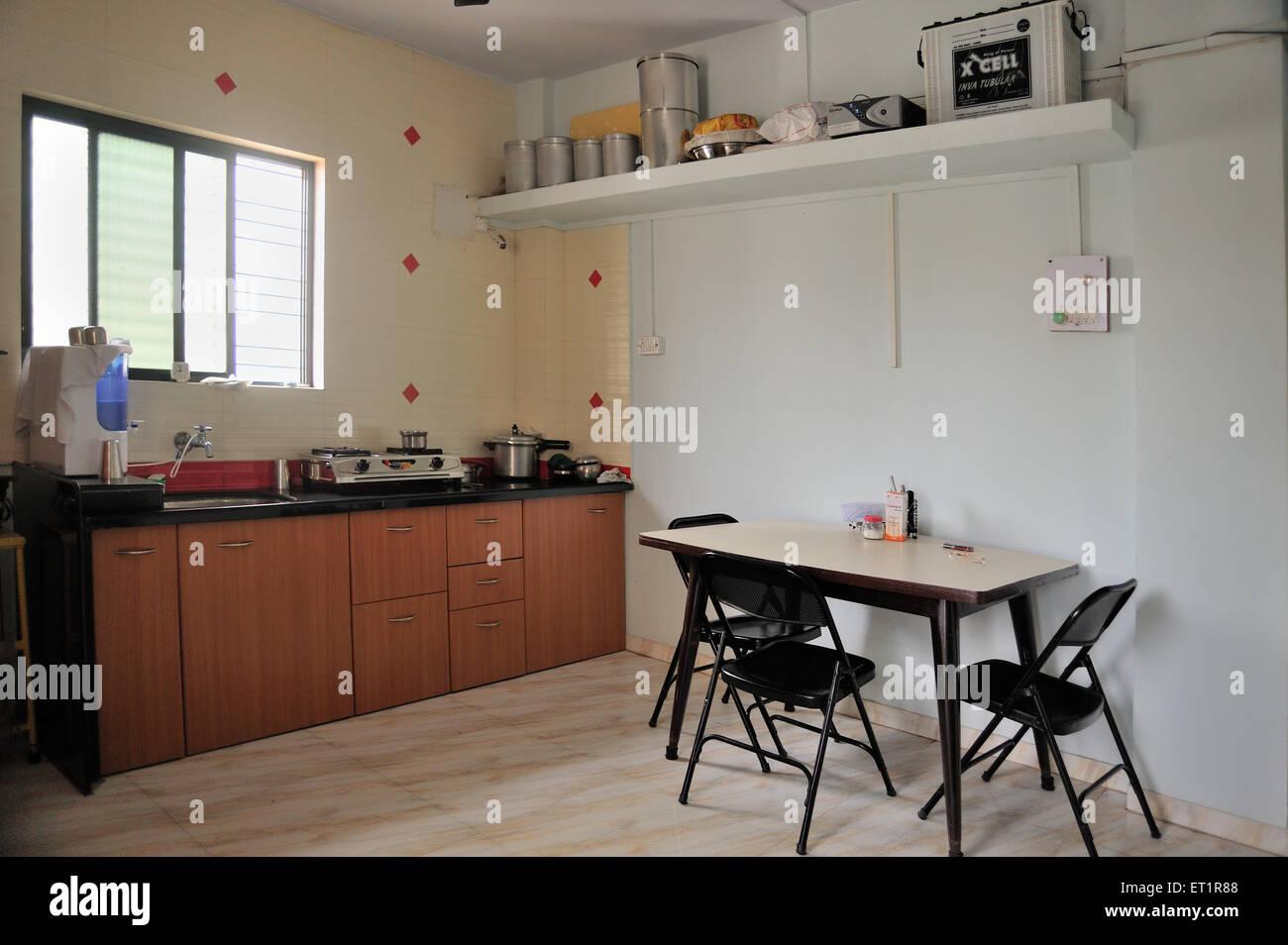Kitchen In Nasik Home Maharashtra India Asia Stock Photo Alamy