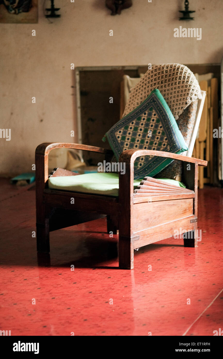 Cushion in chair - Stock Image