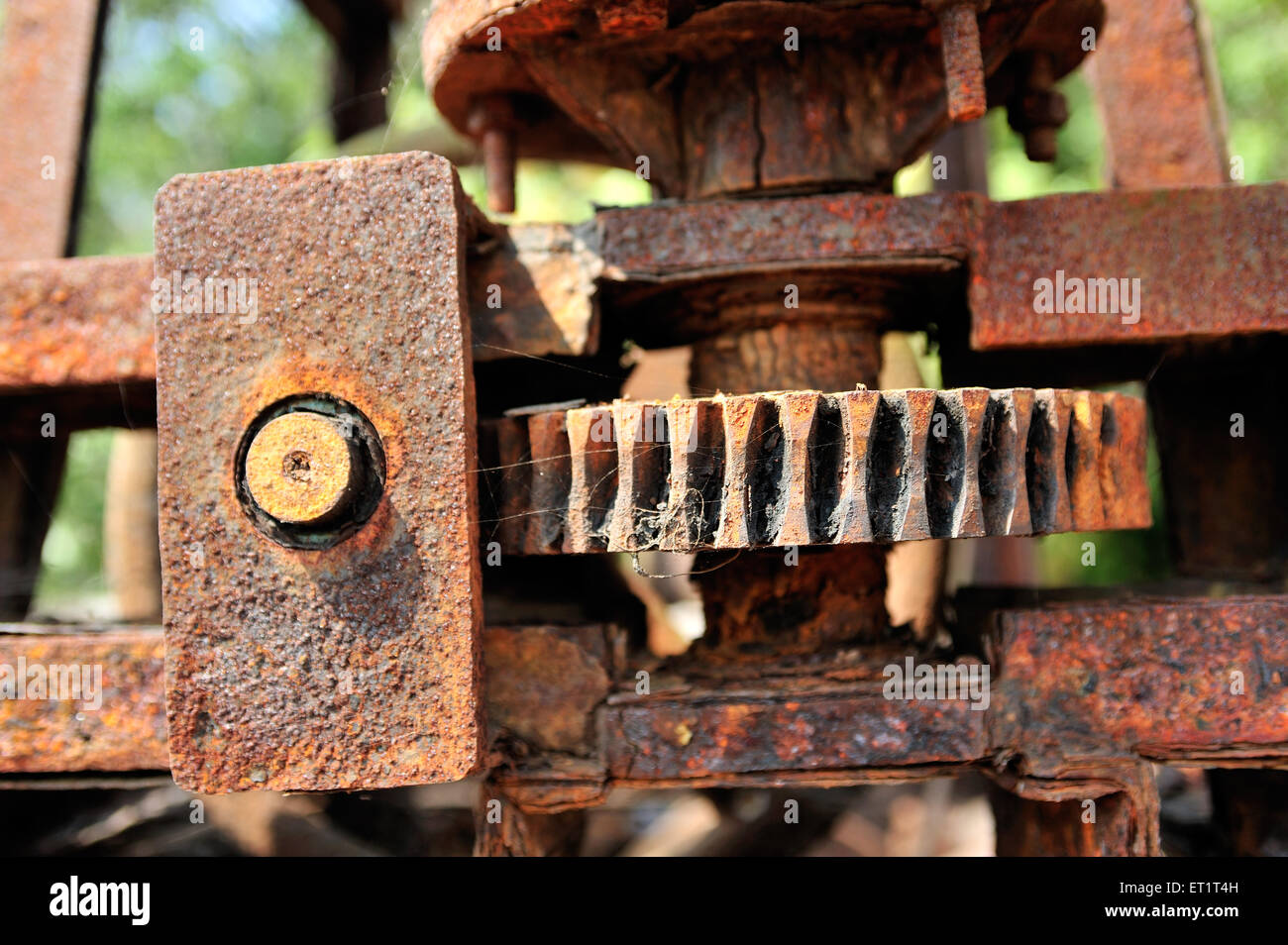 Rusted gears - Stock Image