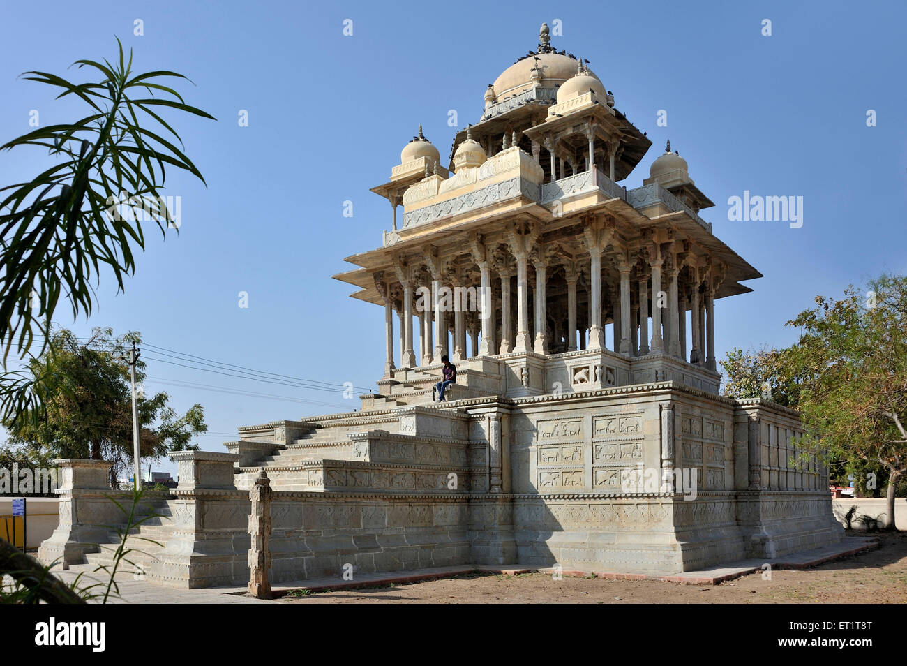 Cenotaph 84 pillared in bundi at rajasthan india Asia - Stock Image
