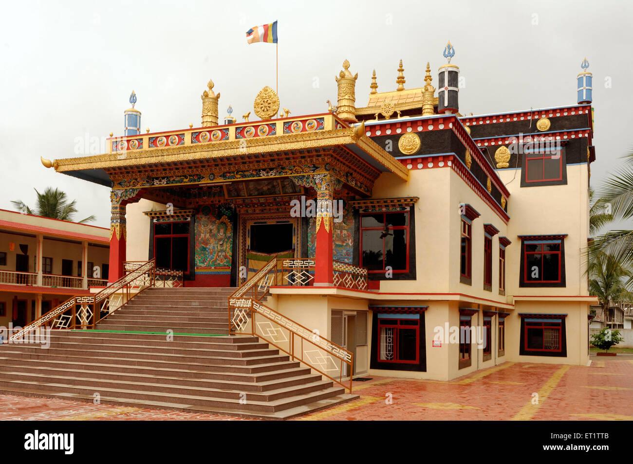 Shar Gaden Monastery in Mundgod At Karnataka India Asia - Stock Image