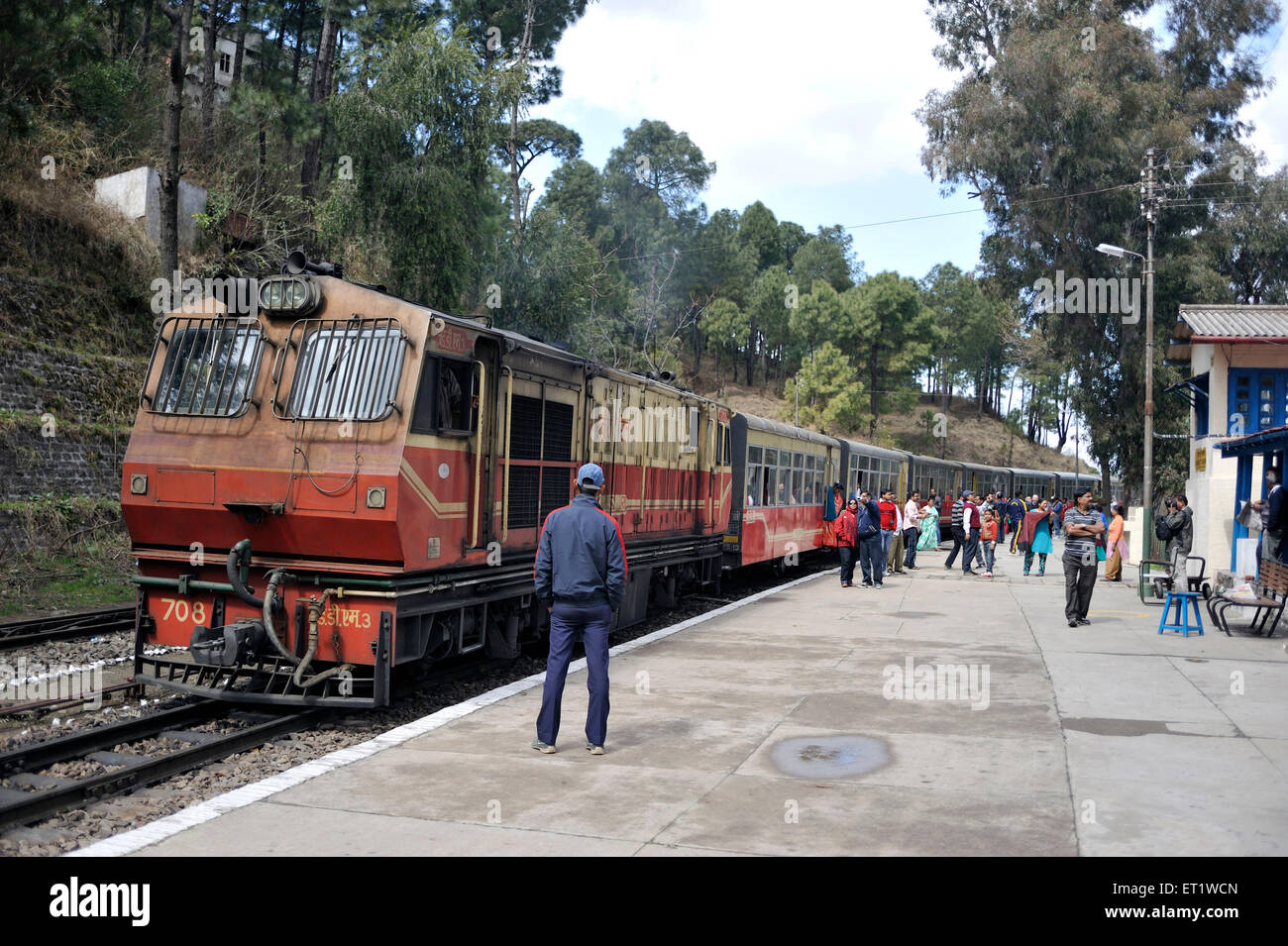 Toy Train in Shimla at Himachal Pradesh India Asia - Stock Image