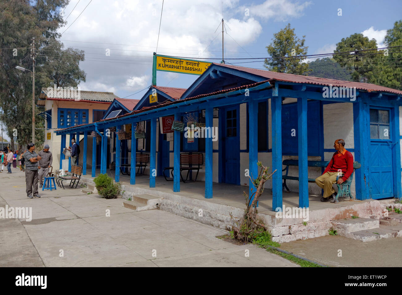Railway Station in Shimla at Himachal Pradesh India Asia - Stock Image