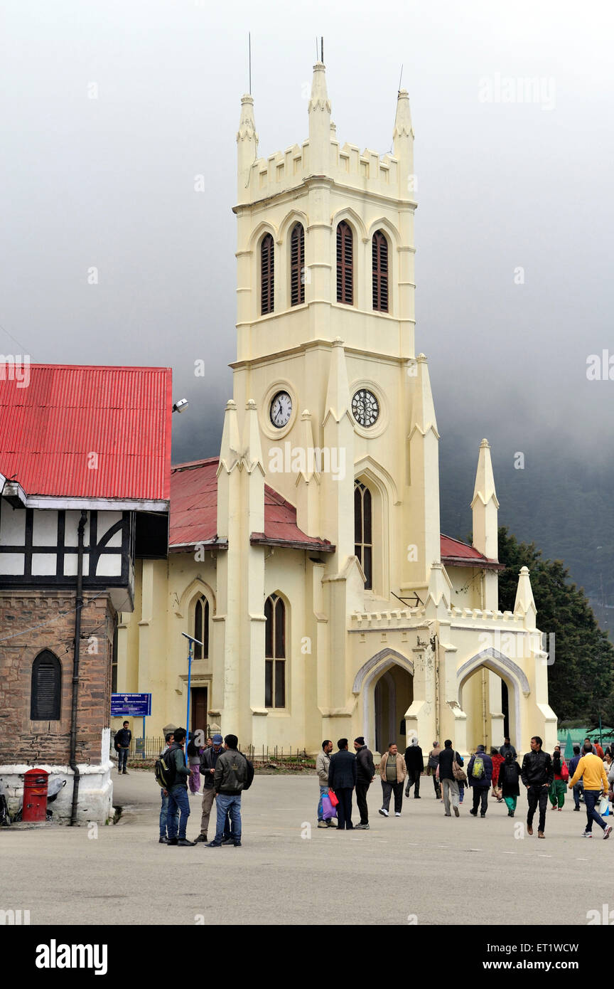 Christ Church in Shimla at Himachal Pradesh India Asia - Stock Image