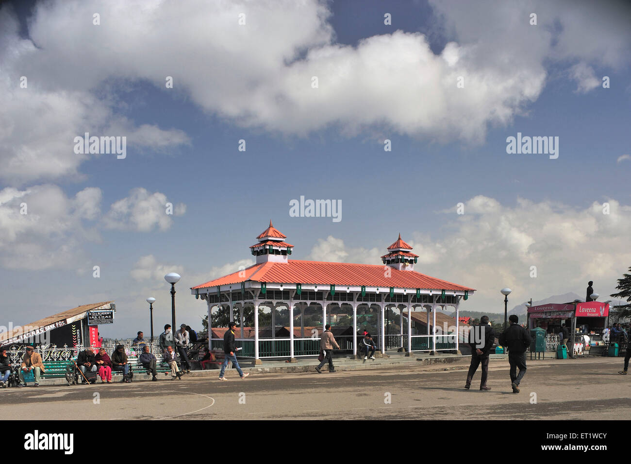 Pavilion in shimla at Himachal Pradesh India Asia - Stock Image