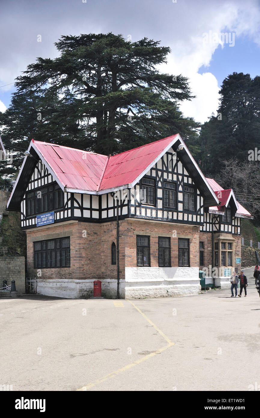 State Library in Shimla at Himachal Pradesh India Asia - Stock Image