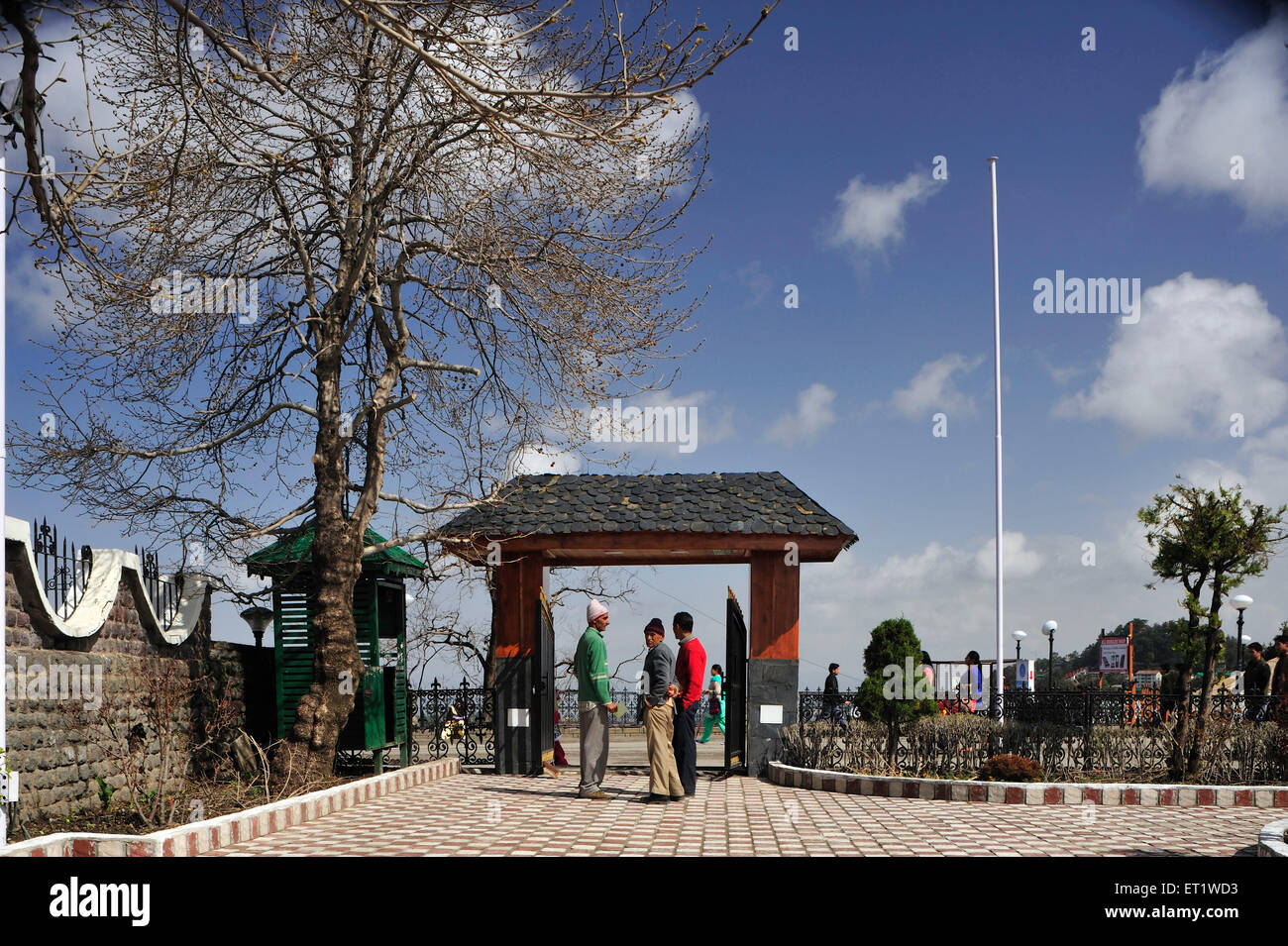 Gate of Daulat Singh Park in Shimla at Himachal Pradesh India - Stock Image