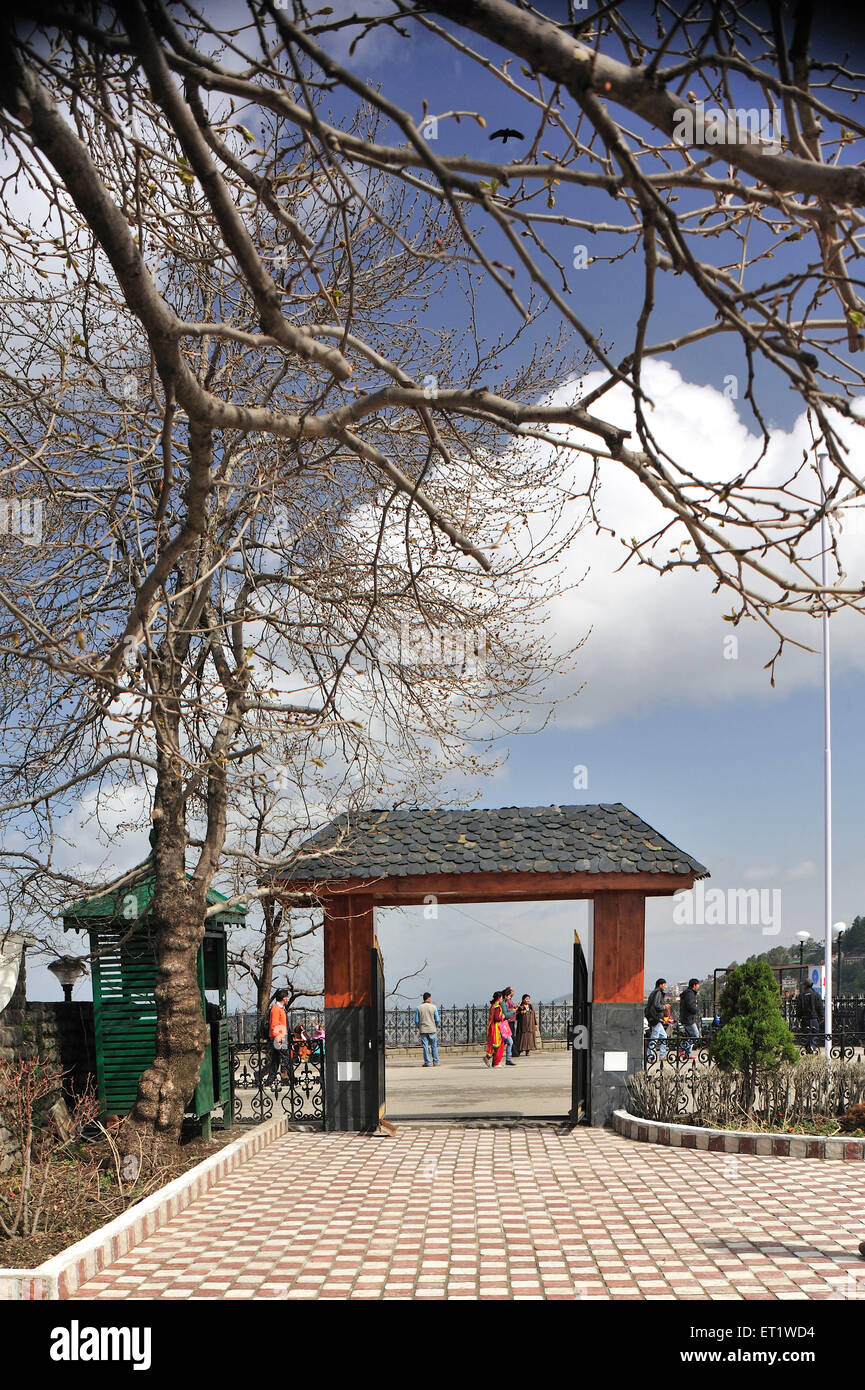 Gate of Daulat Singh Park in Shimla at Himachal Pradesh India Asia - Stock Image