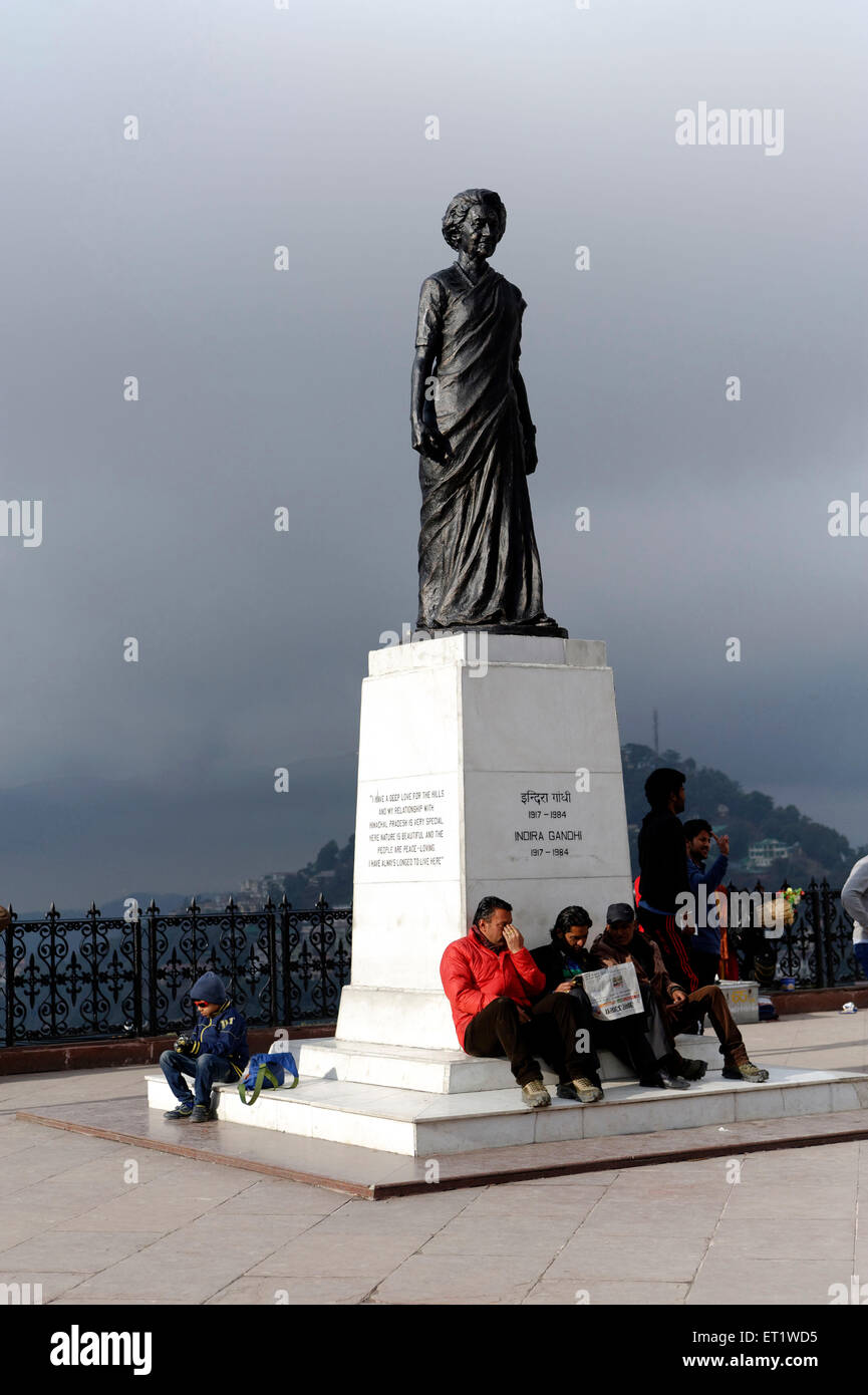 Statue of Indira Gandhi in Shimla at Himachal Pradesh India Asia - Stock Image