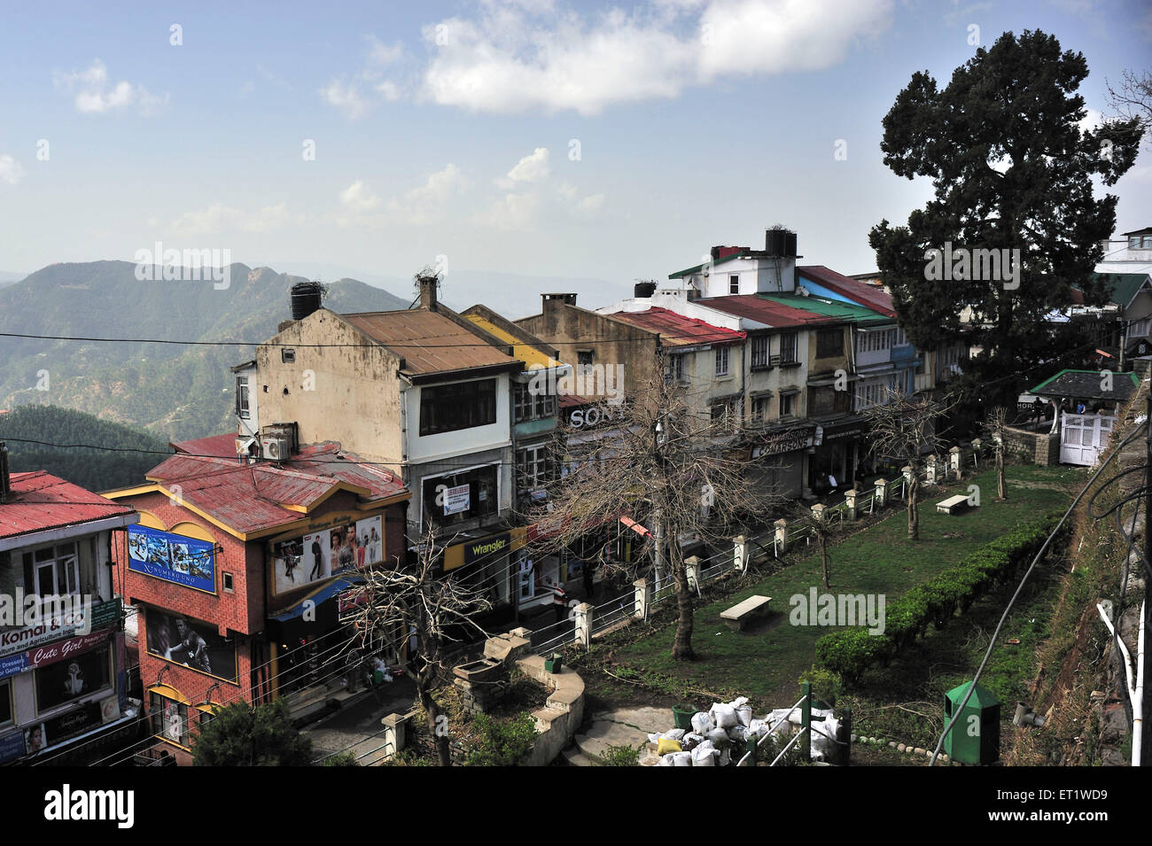 Mall Road in Shimla at Himachal Pradesh India Asia - Stock Image