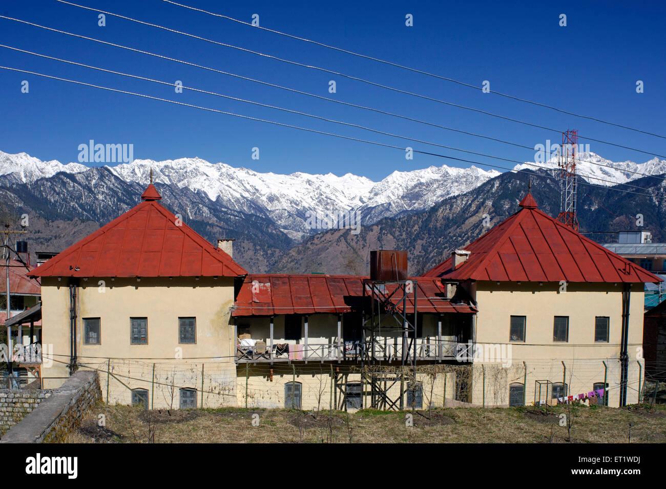 Old Buildings in Sarahan at Himachal Pradesh India Asia - Stock Image