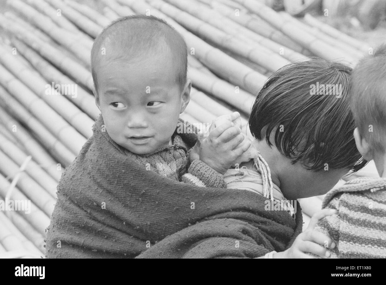Apa Tani child ; Arunachal Pradesh ; India NO MR - Stock Image