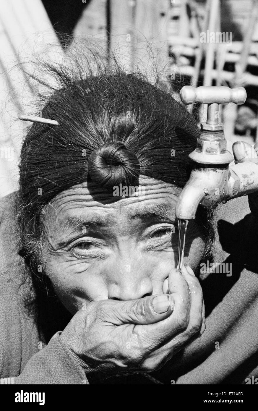Pictures of Apa Tani tribe in Lower Subansiri district near Ziro ; Arunachal Pradesh ; India 1982 - Stock Image