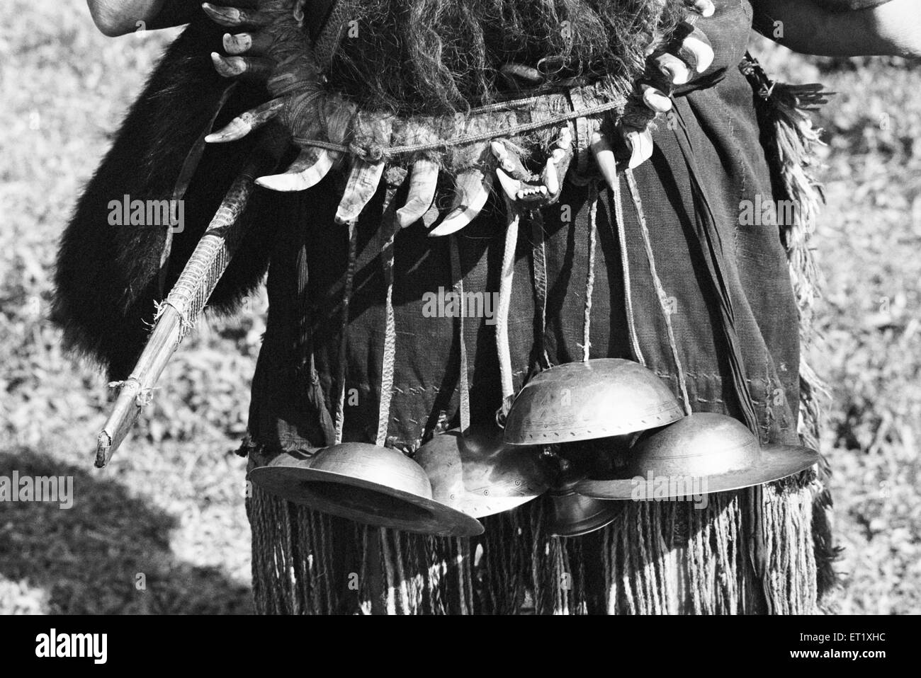 Metal cymbals used to provide adornment music ; Hill Miri tribe ; Arunachal Pradesh ; India 1982 - Stock Image
