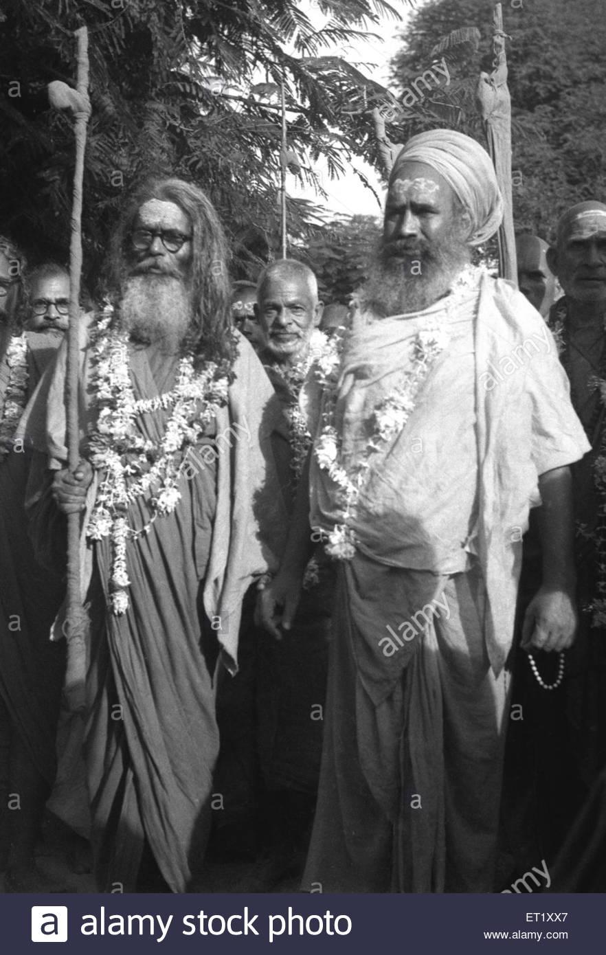 Mathadhipati sadhus NO MR - Stock Image