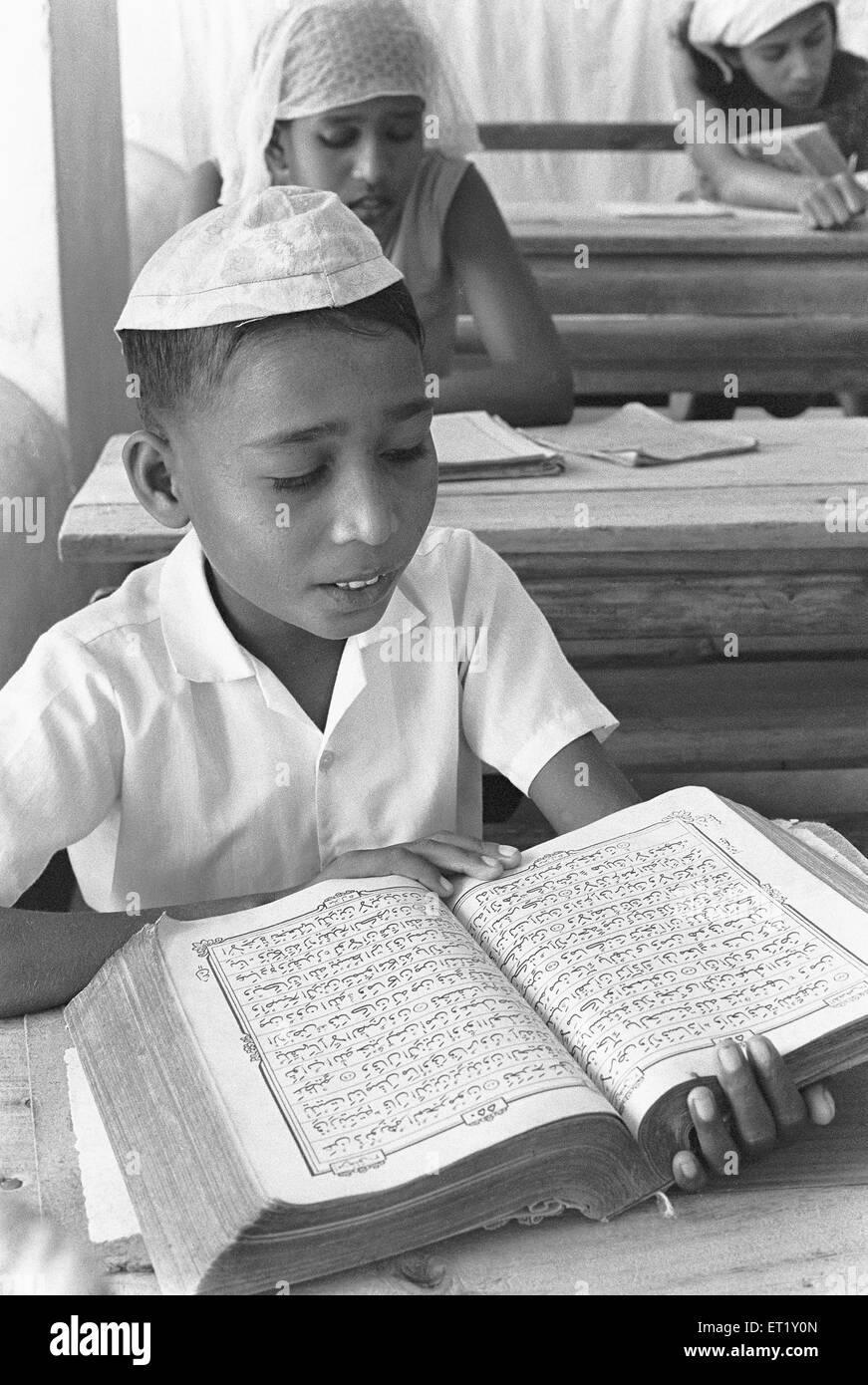 Pupil in classroom ; Male capital of Maldives NO MR - Stock Image