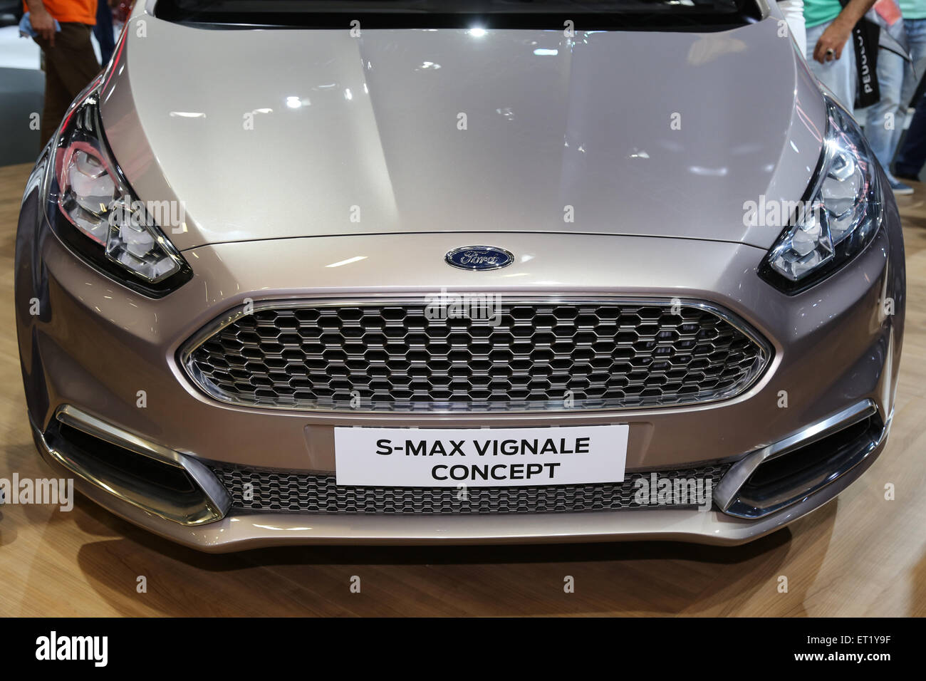 ISTANBUL, TURKEY - MAY 30, 2015: Ford S-Max Vignale Concept in Istanbul Autoshow 2015 - Stock Image