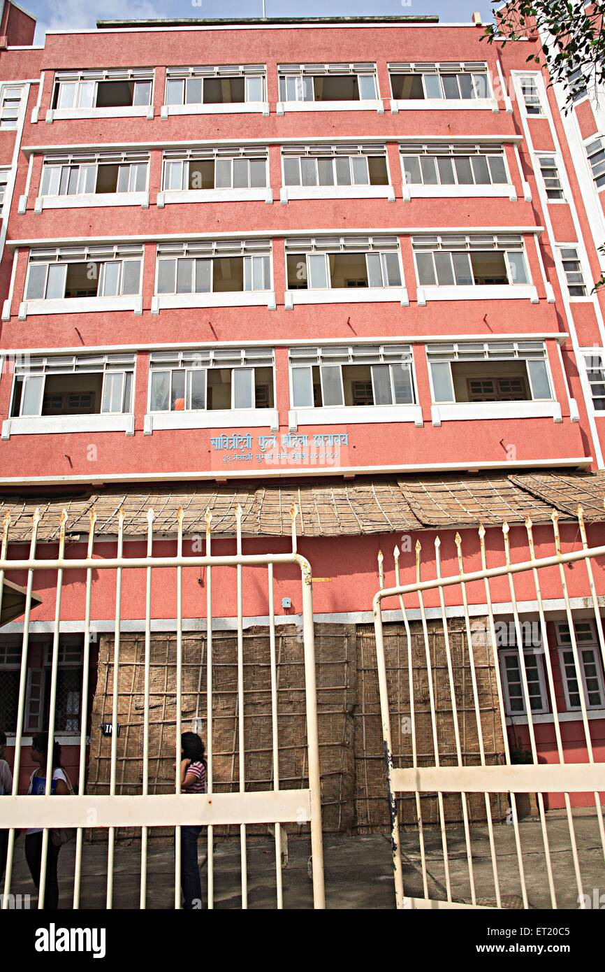 Savitridevi Phule Women hostel ; Netaji Subhash Chandra Bose road ; Charni road ; Bombay Mumbai ; Maharashtra ; - Stock Image