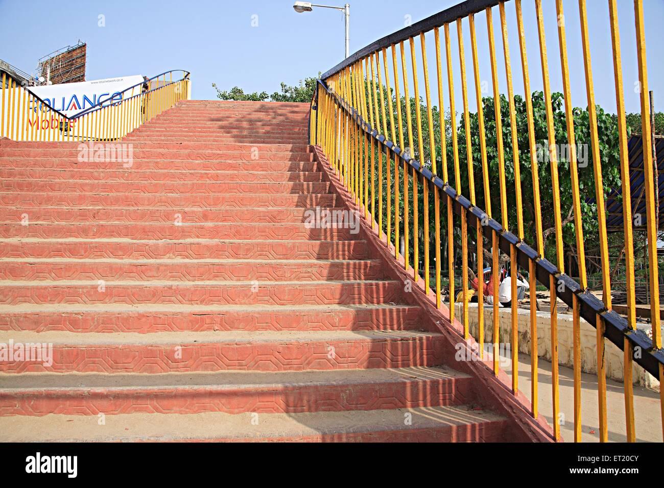 Pedestrian bridge at G. B. Pant Chowk ; Girgaon ; Chowpatty Seaface ; Charni Road ; Bombay Mumbai ; Maharashtra - Stock Image