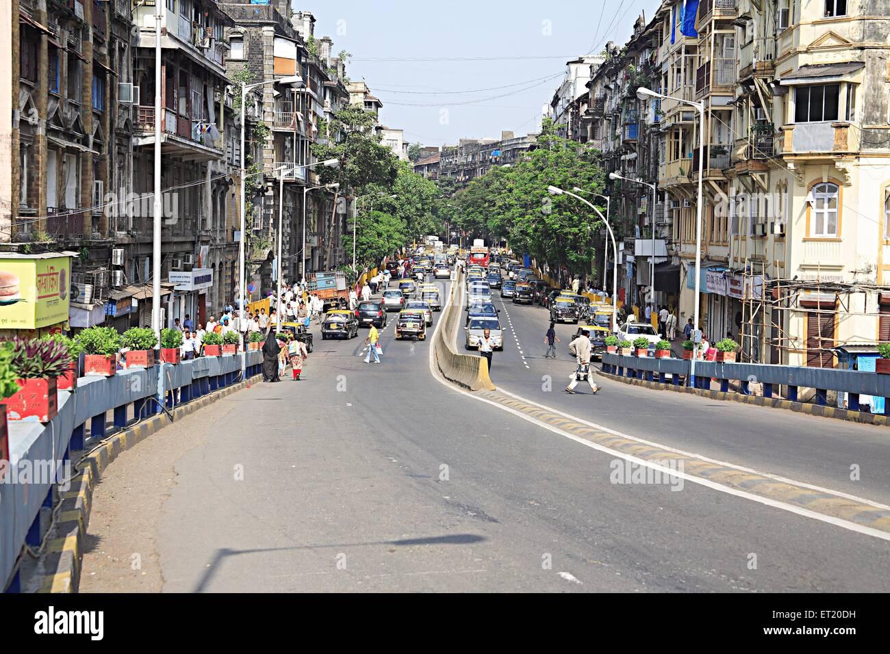 Old buildings at Shamal Das Gandhi road ; Marine Lines ; Bombay Mumbai ; Maharashtra ; India - Stock Image