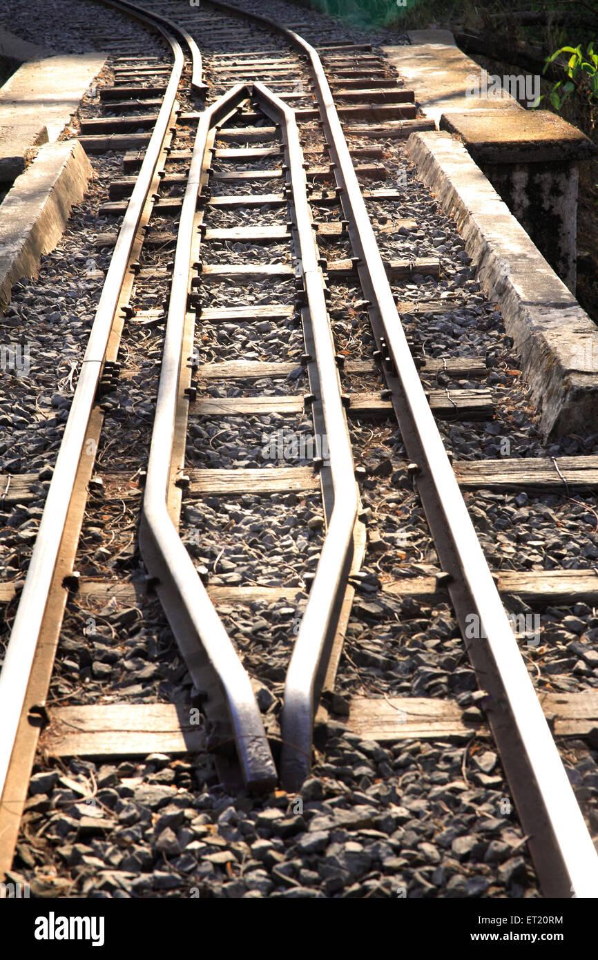 Mini train tracks in Sanjay Gandhi National Park ; Borivali ; Bombay Mumbai ; Maharashtra ; India - Stock Image