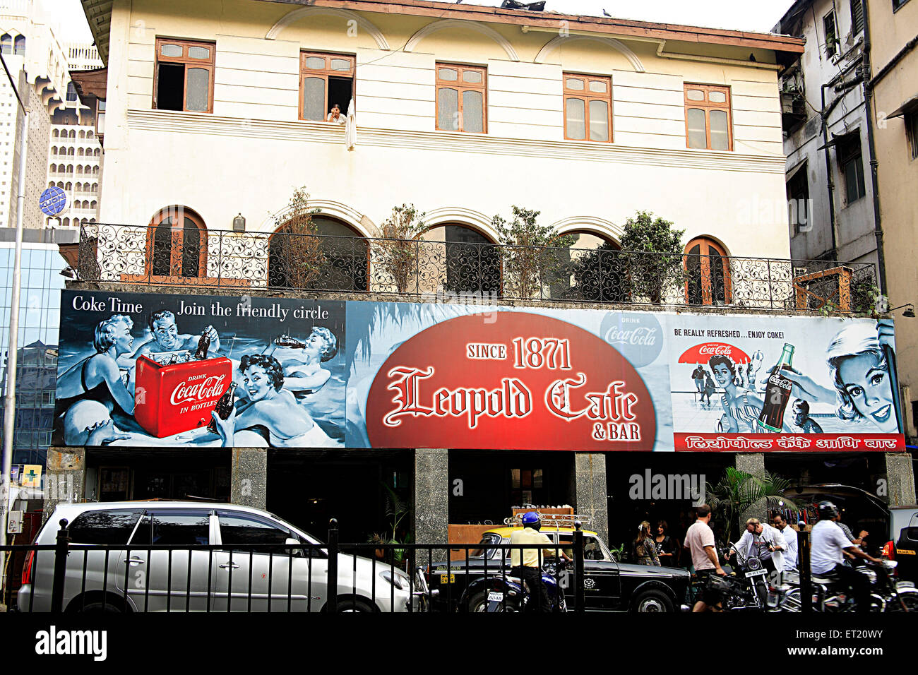 Leopold cafe and bar ; Bombay Mumbai ; Maharashtra ; India - Stock Image