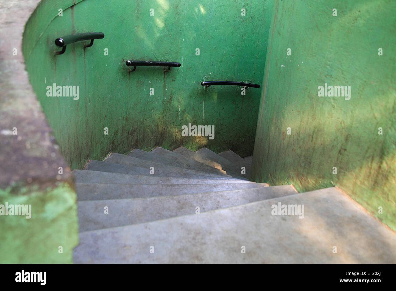 Stair ; Bombay Mumbai ; Maharashtra ; India - Stock Image