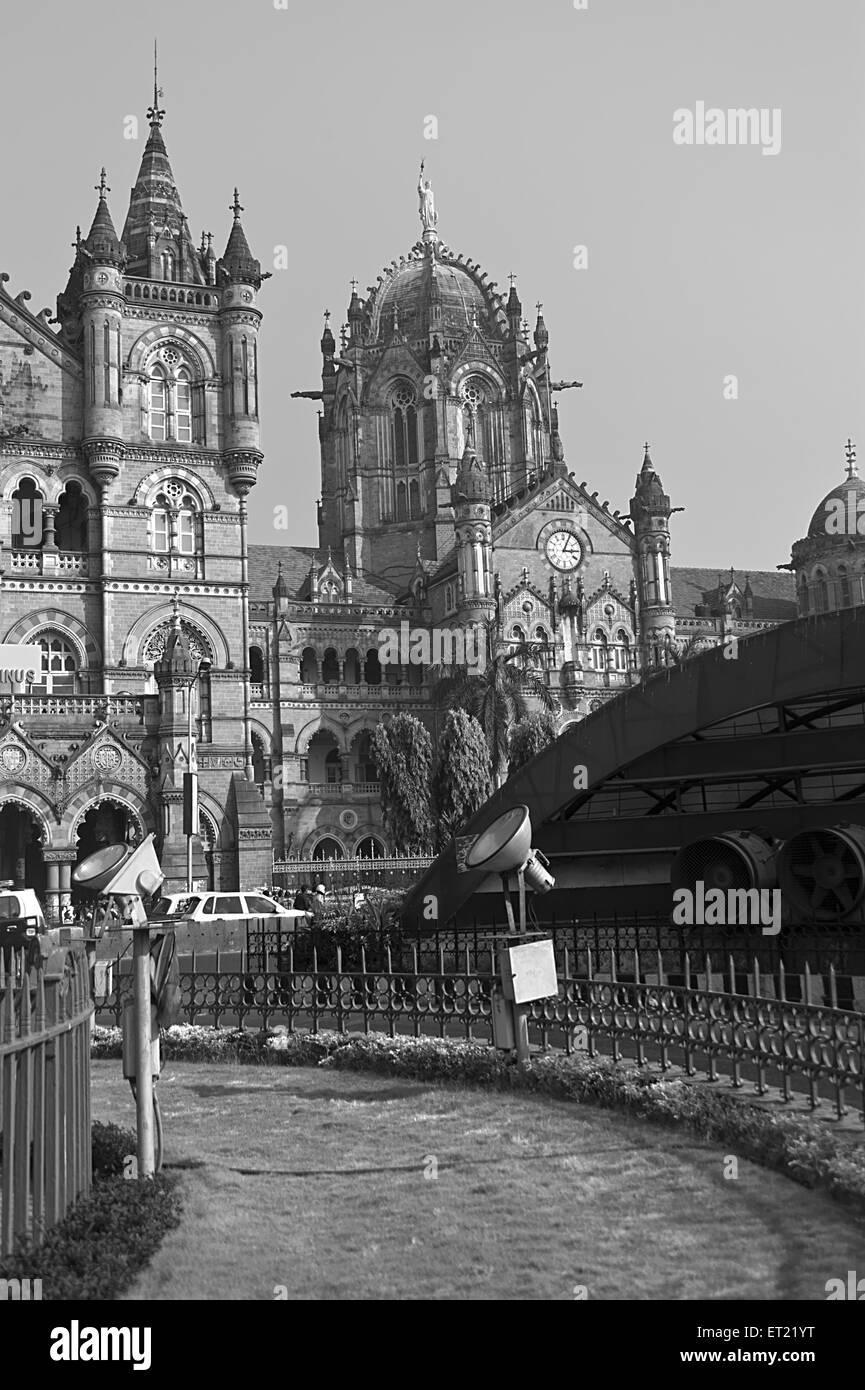 Victoria Terminus Railway station Mumbai Maharashtra India Asia Dec 2011 - Stock Image