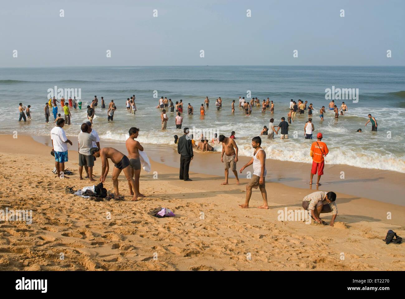 Goa Beach Enjoying High Resolution Stock Photography And Images Alamy