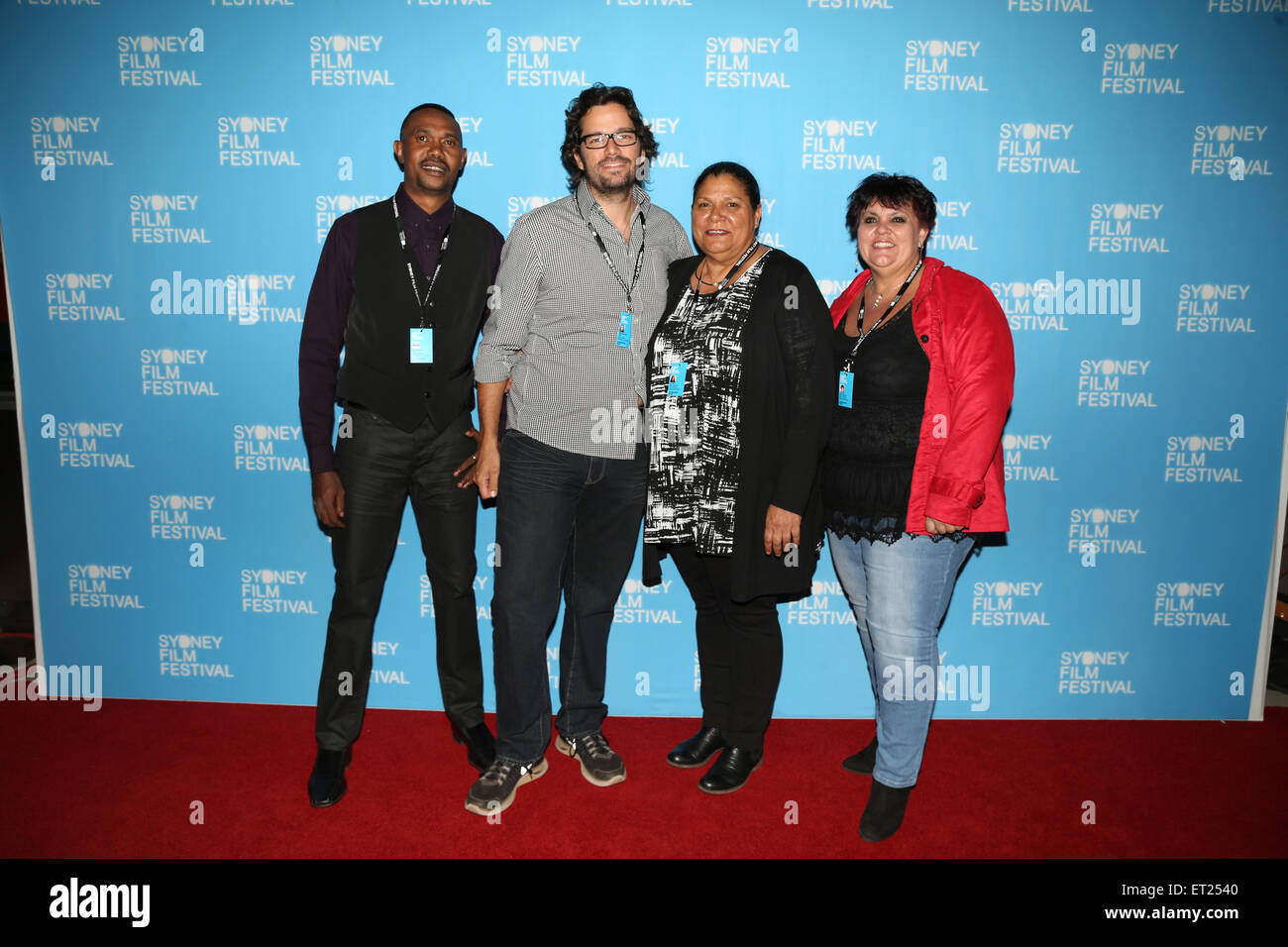 Sydney, Australia. 9 June 2015. Pictured: Naji director Kimberly West, producer Jodie Bell, custodian Terry Hunter and concept creator Petris Torres.