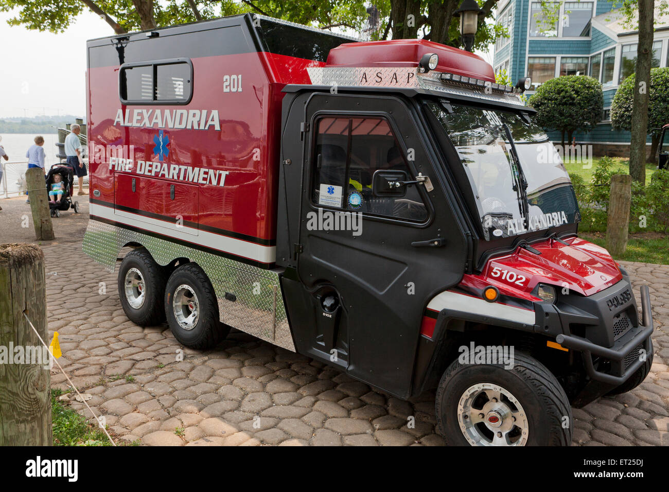 Fire Department ATV (All-Terrain Vehicle) truck - Alexandria, Virginia USA - Stock Image