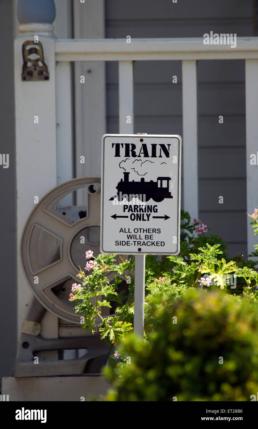 Train Enthusiast Sign - Stock Image