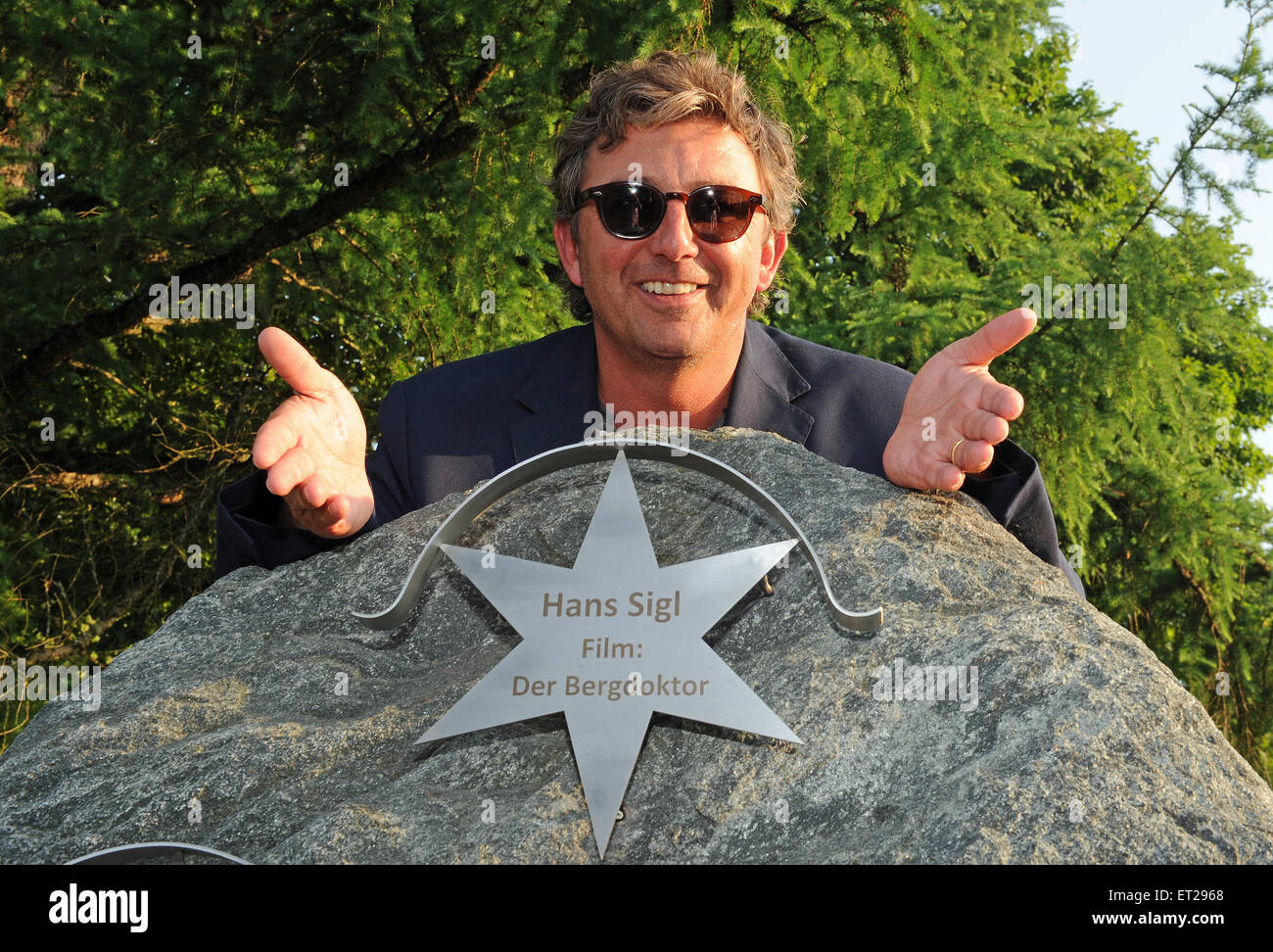 Ellmau, Austria. 10th June, 2015. Actor Hans Sigl is to be honored with the Kaiserstern award in Ellmau, Austria, - Stock Image