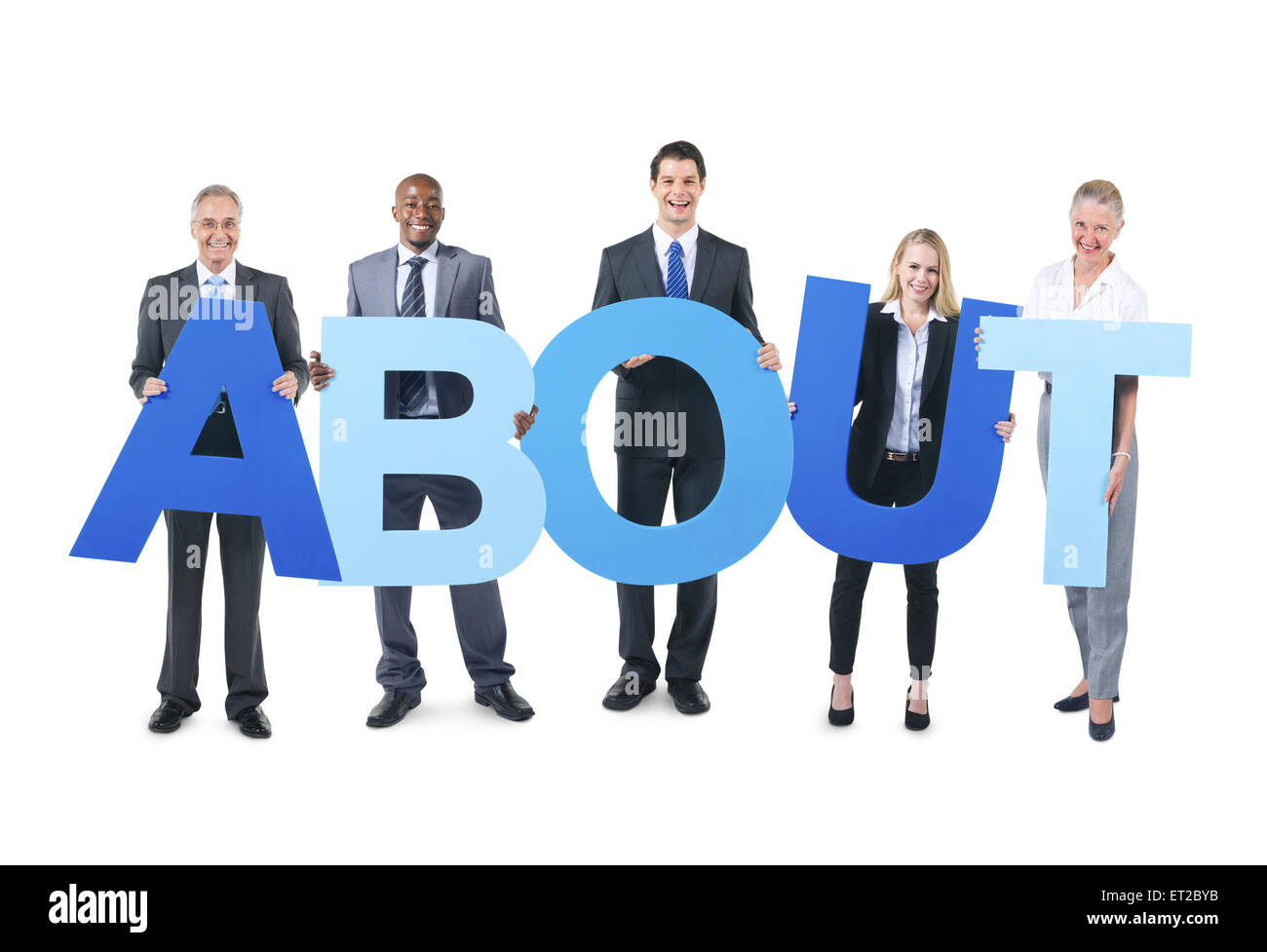 Group of Business People Holding the Alphabet - Stock Image