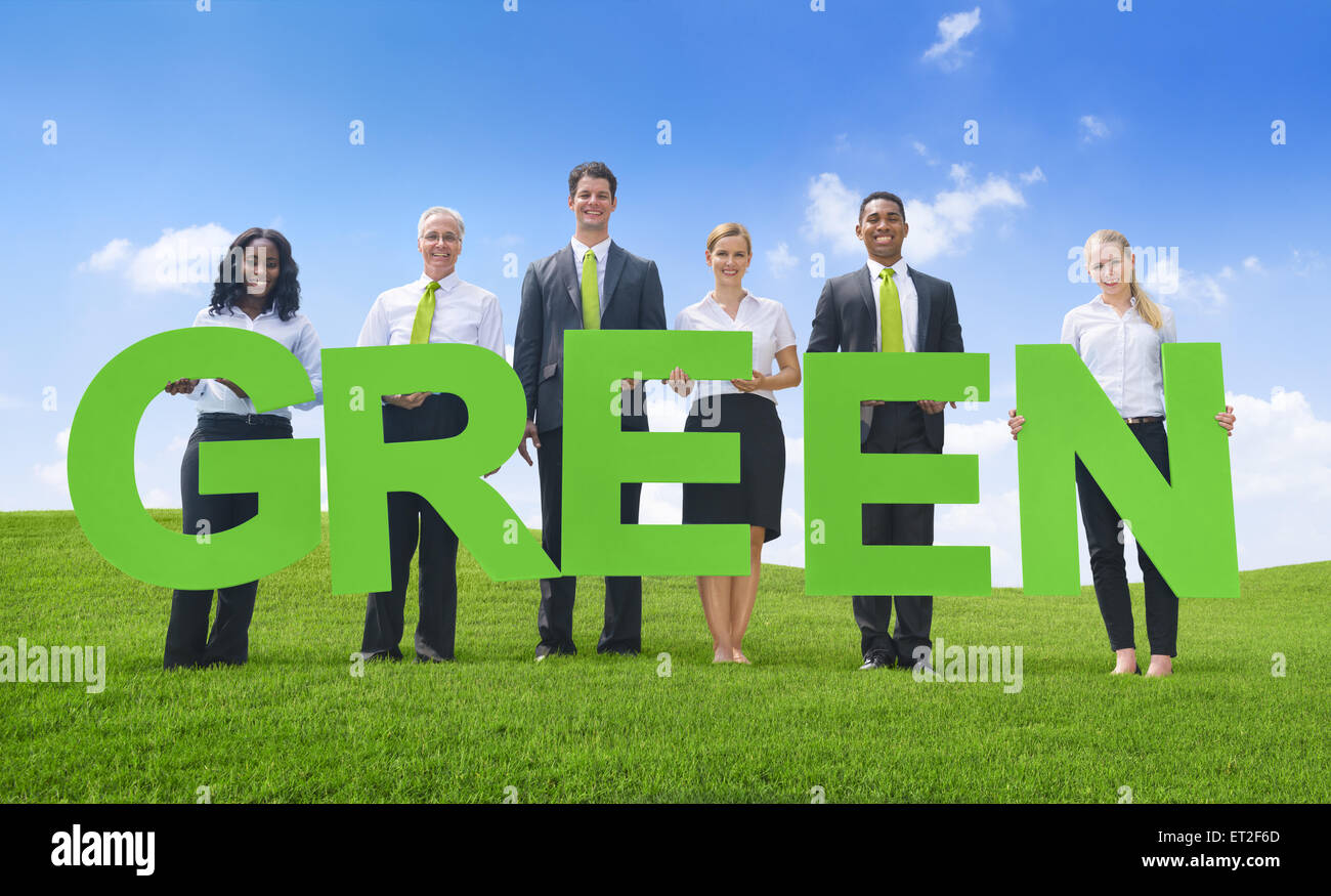 Green Business - Stock Image