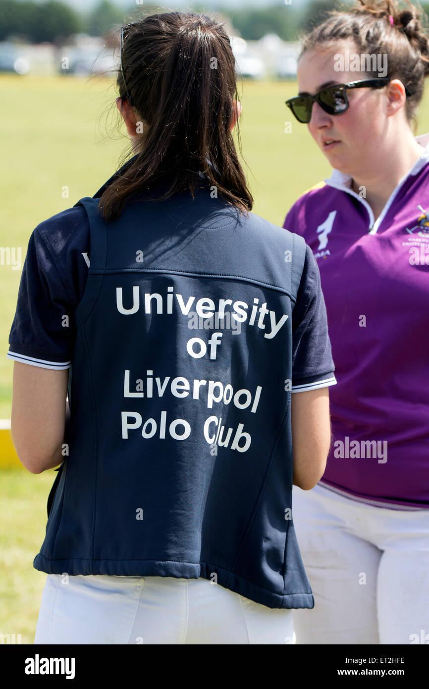 Liverpool University female student polo player - Stock Image