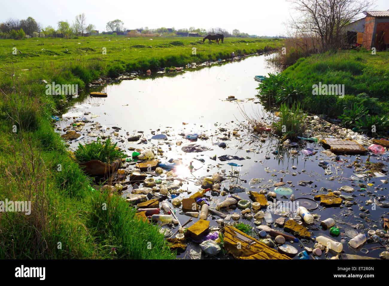 Dead river - Stock Image