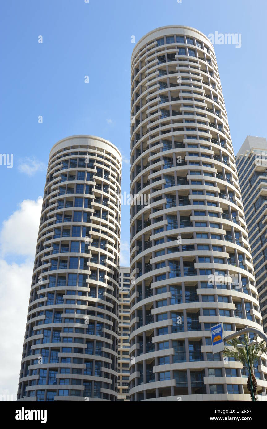 Modern luxury high rise building tel aviv israel stock for Modern high rise building design