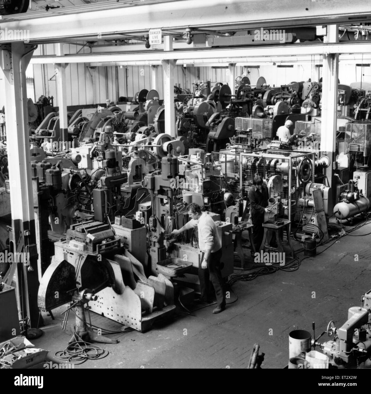 Inside the Aston premises of Parkes (Machine Tools) Ltd.  A major success story on the development of the business - Stock Image