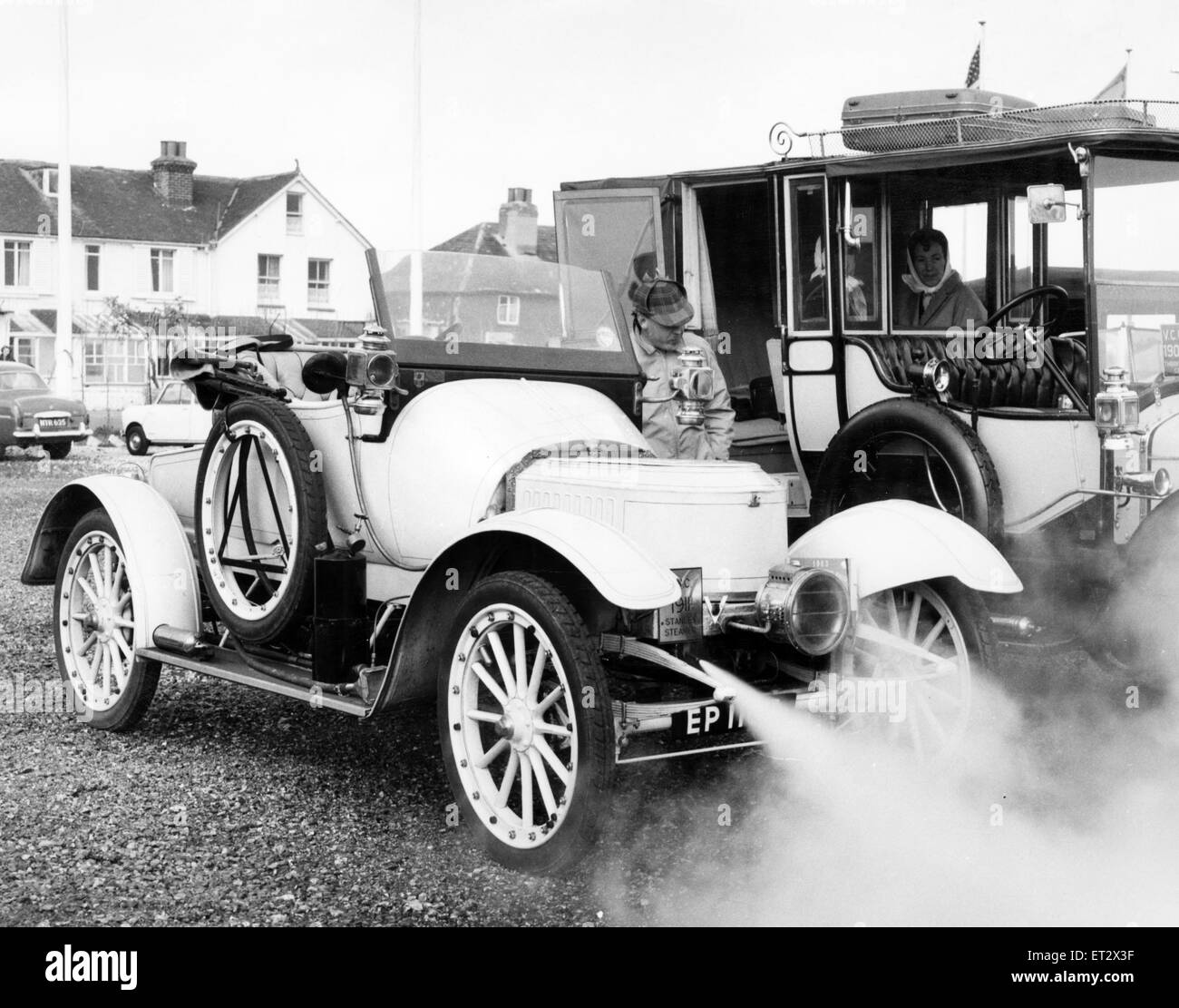 1911 Stanley Steam Car, the only one of its year in the  country, won an award in the 4th International Rally of - Stock Image