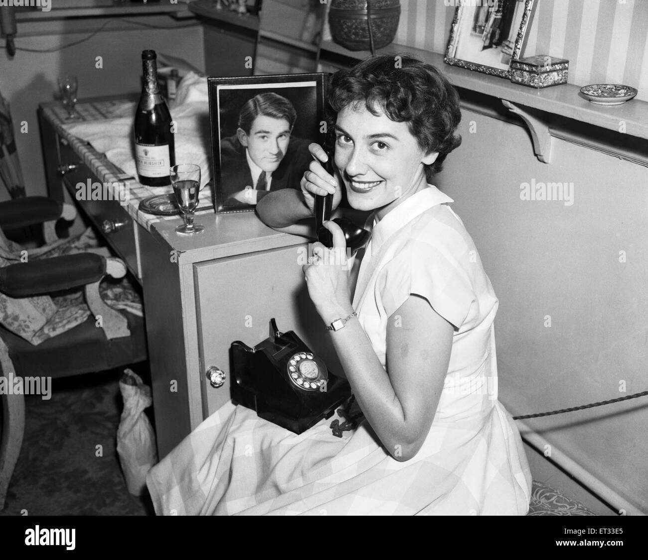 A portrait of Anne Rogers in her dressing room on the day of her