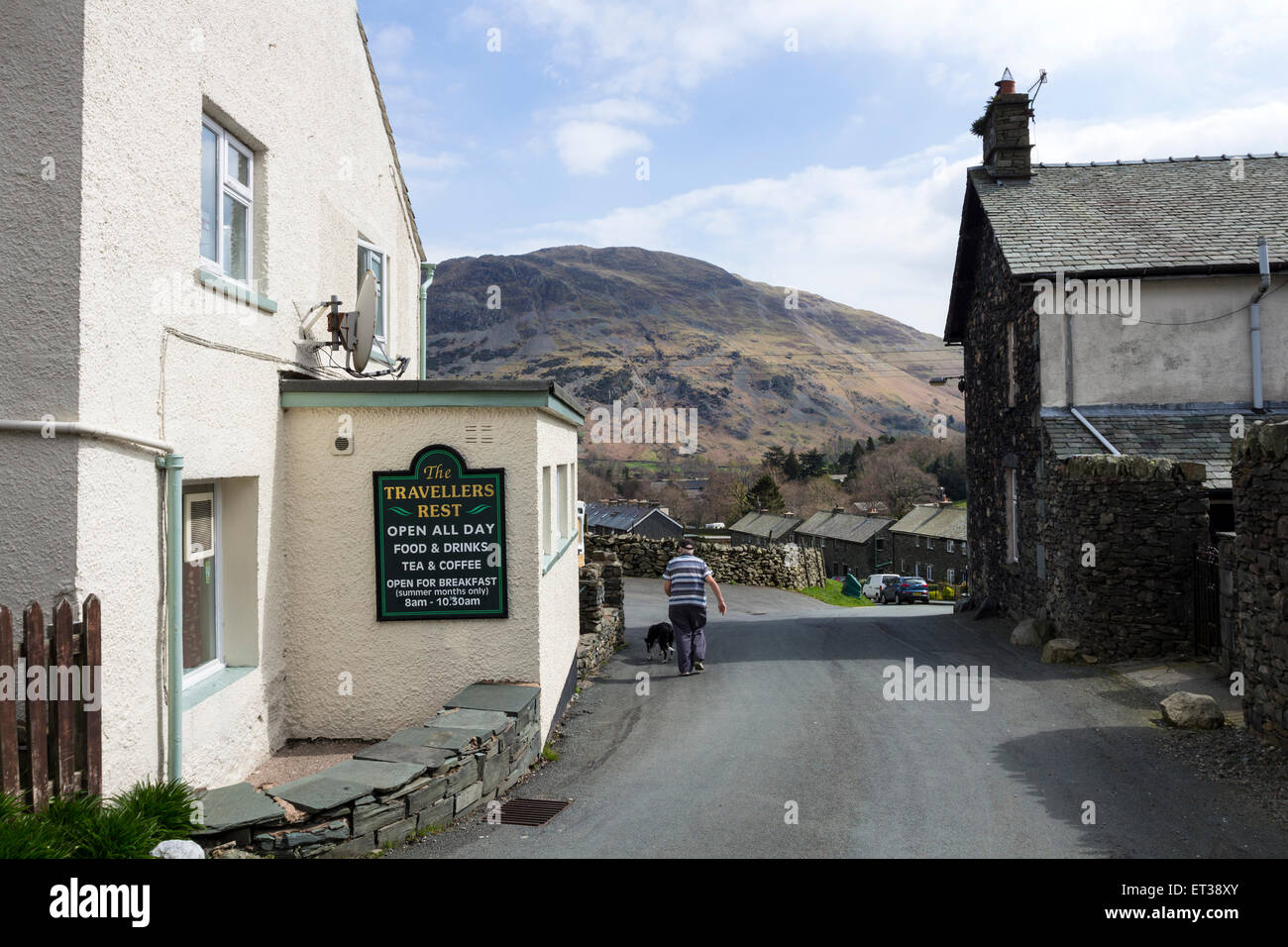The Travellers Rest in Glenridding Lake District Cumbria UK Stock Photo
